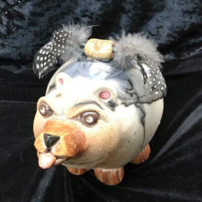 Alsen Raku Pottery - Bear 1000